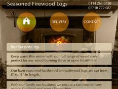 Logs Derbyshire, Charlesworth Landscapes, wood sizes perfect for any wood burning stove or open hearth fire